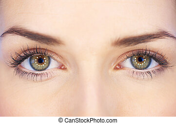 Eyes of 20-25 years old beautiful woman, part of face