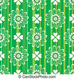 Green floral seamless pattern (vector)