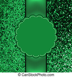 Green glitter sparkles snow flakes background. And also includes EPS 8 vector