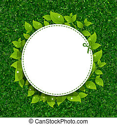 Green Grass Texture With Leaves