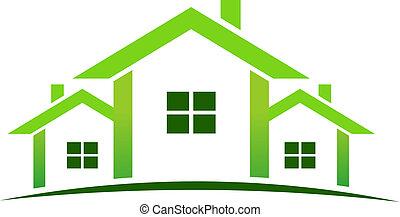 Green houses logo
