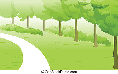 This illustration is a common natural landscape.