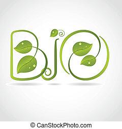 Green leaf Bio background
