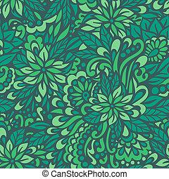 Green meadow. Seamless decorative pattern.