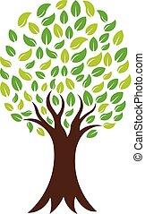 Green Nature Tree, Vector Logo