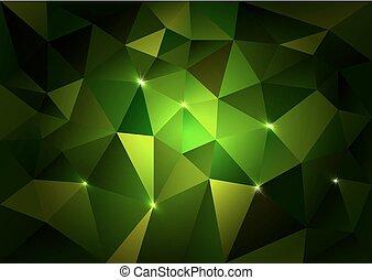 Green Triangles Dark