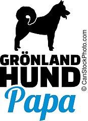 Greenland Dog dad silhouette german
