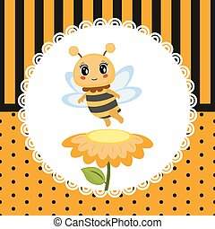 Greeting card with honey bee.