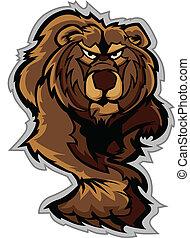 Grizzly Bear Mascot Body Prowling w