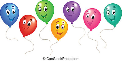 Group of cartoon balloons 3