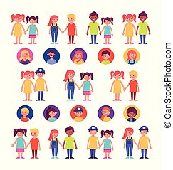group of family members characters