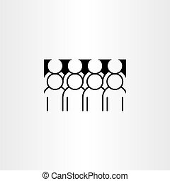 group of people clipart vector icon