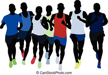 group runners athletes