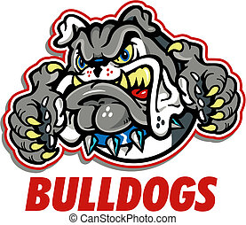 growling bulldog mascot