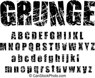 A set of personalized grunge alphabets to use. vectors, isolated on white. Completed with set 2 of number and symbol