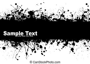 Black ink splat background with room to add your own text
