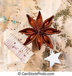 Grunge Christmas still life