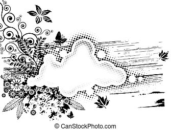 Grunge Flora Composition