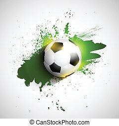 Grunge football / soccer ball background