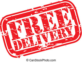 Grunge free delivery rubber stamp, vector