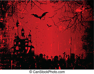 Spooky Halloween background with a grunge style effect