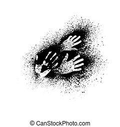 Grunge hands background