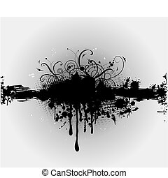 grungy plaint or ink splatter layout in vector format with copyspace.