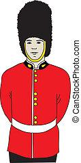 Guard of Queen. Vector illustration.