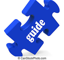 Guide Puzzle Showing Consulting Instructions Guideline And Guiding