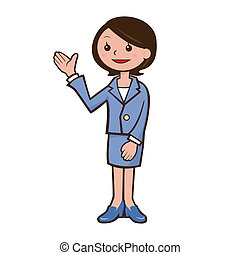 Guide woman's illustration