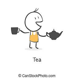 guy drinks tea