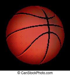Halftone Basketball ball, vector