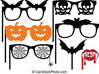 halloween booth props, vector
