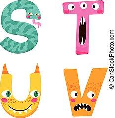 Halloween Monster Alphabet
