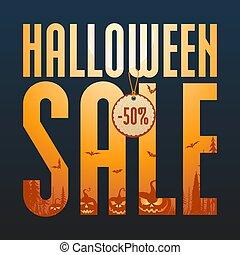 Halloween sale concept