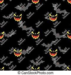 Halloween seamless vector pattern background wallpaper