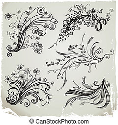 Hand Draw Floral Elements