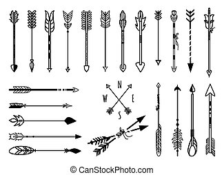 Hand drawn arrows set