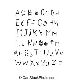 Hand drawn cute font for your type design