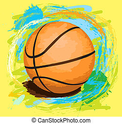 hand drawn illustration of basketball ball for your design