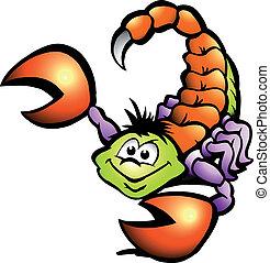 Hand-drawn Vector illustration of an Danger Scorpion