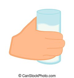Hand holding a water glass