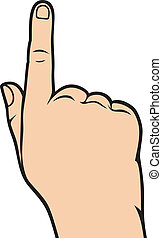 hand pointing (hand with pointing finger, pointing finger, finger point, finger pointing)