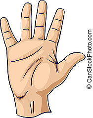 Hand showing open palm gesture. Used in aircraft taxiing to show stop.