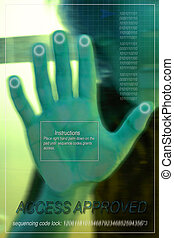 Image depicting advances in technology in the field of identification