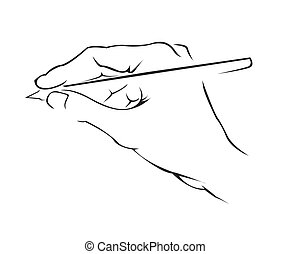 Hand Writing Simple Symbol