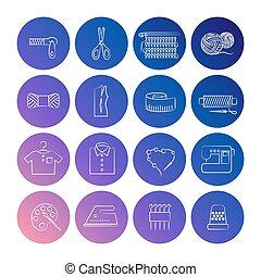 Handcraft line icons set