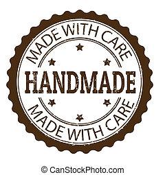 Handmade grunge rubber stamp, vector illustration