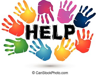 Hands help logo.