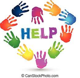 Hands lovely help logo.
